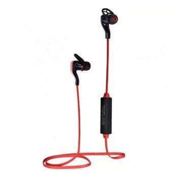 KS Bluetooth earphone หูฟังไร้สายแบบสอดหูสำหรับออกกำลังกาย พร้อมไมค์ ปรับเสียง รุ่น BT-30- สีแดง