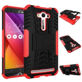 "Harga Ruilean TPU and PC Hybrid Armor Design Dual-Layer Kickstand Case for Asus ZenFone 2 Laser ZE550KL 5.5"" (Red)"