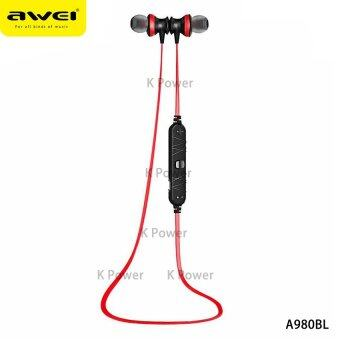 AWEI หูฟัง Bluetooth Sports Earphone For Call And Music A980BL (สีดำ/แดง)