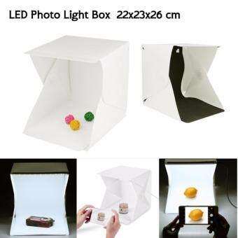 Light Room สตูดิโอมินิ กล่องถ่ายภาพ 22x23x26cm.พร้อมฉากหลังสีดำ,ขาว