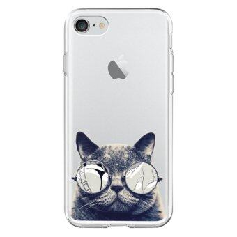 AFTERSHOCK TPU Case iPhone7 (เคสใสพิมพ์ลายBlack Cat) / Thin 0.33 mm