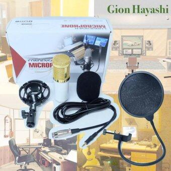 Hayashi-ไมค์ ไมค์อัดเสียง คอนเดนเซอร์ Pro Condenser Mic Microphone BM800 พร้อม Shock Mount แถมฟรี Mic Filter