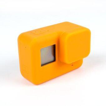 Gopro hero 5 ฝุ่นการป้องกันกรณีเลนส์ครอบซิลิโคนสำหรับ Gopro Hero 5 การกีฬาป้องกันตัวกล้องนิ่มปิดเคส (ส้ม)