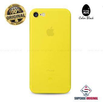STONE AGE Color Block Collection Slim Fit Case 0.4 mm. ของแท้ สำหรับ iPhone 7 สีเหลือง (Yellow)