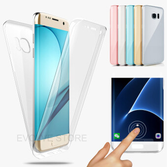 Roybens 360 Degree Full Body Protect Soft TPU Case Front + Back Cover For Samsung Galaxy S7 Edge Clear - intl