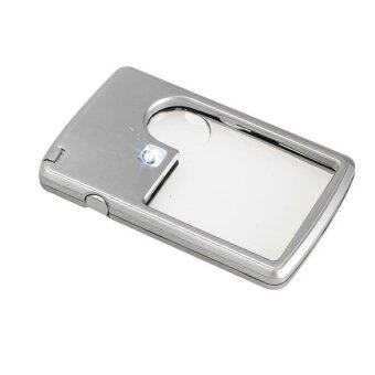 Harga Ultra Thin 3x 6x Magnifier Light Jewelry Loupe Credit Card Shape - Intl - intl