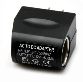 igootech ACPLUG ตัวแปลงไฟบ้าน ให้เป็นไฟ 12V DC 500 Mah แบบที่จุดบุหรี่ในรถยนต์ (สีดำ)