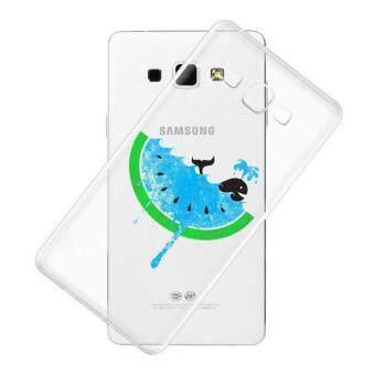 AFTERSHOCK TPU Case Samsung Galaxy J7 2015 (เคสใสพิมพ์ลาย Blue Watermelon) / Thin 0.33 mm