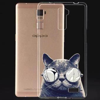 AFTERSHOCK TPU เคส Oppo R7 Plus เคสโทรศัพท์พิมพ์ลาย Black Cat เนื้อบาง 0.33 mm