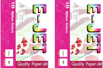 Photo Paper E-JET Photo Inkjet A4 130G. กระดาษปริ้นรูป A4 2Pack (100แผ่น/Pack)