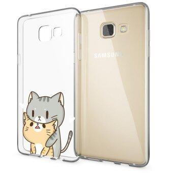 HugCase TPU เคส Samsung Galaxy A9เคสโทรศัพท์พิมพ์ลาย Cat เนื้อบาง 0.3 mm