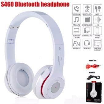 Stereo Wireless Bluetooth Headphone หูฟังบลูทูธ หูฟังไร้สาย หูฟังไอโฟน รุ่น S460 (สีขาว)