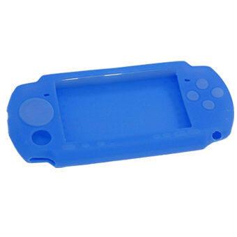 ซิลิโคน Sony PSP Silicone Skin Protective Soft Case Cover for Sony PSP 2000 3000 - Blue
