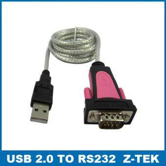 Z-TEK 1.8m USB 2.0 to RS232 serial Cable adapter ราคาถูกที่สุด ส่งฟรีทั่วประเทศ