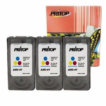 PRITOP Axis /Canon Inkjet iP1200/iP1600/iP1700/iP1880/iP2580/MP145/MP150/MP160/MP228/MP450/MP460/MP476/MX308/MX318/iP1980 ใช้ตลับหมึกอิงค์เทียบเท่ารุ่น Canon 41/CL41/CL 41/CL-41/*3Pack Pritop