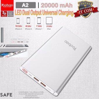 (ของแท้เต็ม100%) Yoobao 20000mAh แบตเตอรี่สำรอง A2 LED Dual Output Universal Charging.