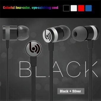 2559 นิวหูฟังกับไมโครโฟนหูฟังสเตอริโอเสียงโลหะสำหรับ iphone Android มาร์ทโฟน MP3 ทั้งหมด 3.5มมอุปกรณ์ BV-EM330 (สีดำ)
