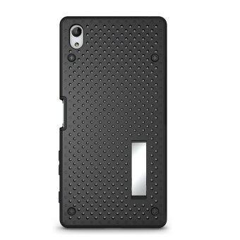 TPU+PC เคสพลาสติกลูกผสมย้อนกลับสำหรับ Sony Xperia Z5 พรีเมี่ยม 13.97ซม (Z5+/Z5 พลัส) (สีดำ)