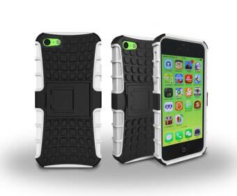 เคส for Apple iPhone 5C Case Cover ข้างหลัง ผลไฮ คอมโบ with Kickstand - White