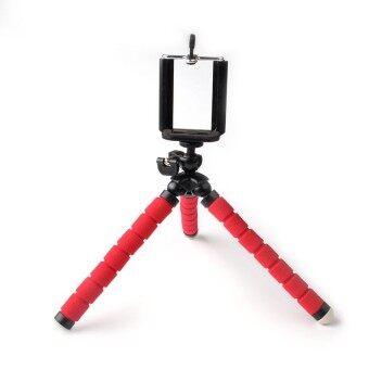 โทรศัพท์คุณภาพสูงสีกล้องขาตั้งพับได้ปลาหมึกวงเล็บสำหรับโทรศัพท์มือถือ (สีแดง)