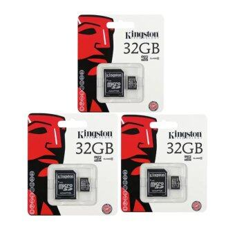 Kingston anny Kingston Memory Card Micro SD SDHC 32 GB Class 10 คิงส์ตัน เมมโมรี่การ์ด 32 GB รุ่น แพ็ค3ชิ้น