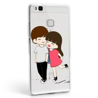 Hug Case TPU เคส Huawei P9 Lite เคสโทรศัพท์พิมพ์ลาย คู่ เนื้อบาง 0.3 mm