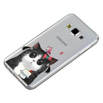 HugCase TPU เคส Samsung Galaxy A8เคสโทรศัพท์พิมพ์ลาย Bird & Cat เนื้อบาง 0.3 mm