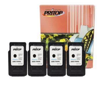 PRITOP Canon MG4270/MX517MG2170/MG3170/MG4170/MX437MX377 ใช้ตลับหมึกอิงค์เทียบเท่า รุ่น 740XL หมึกสี 4 ตลับ