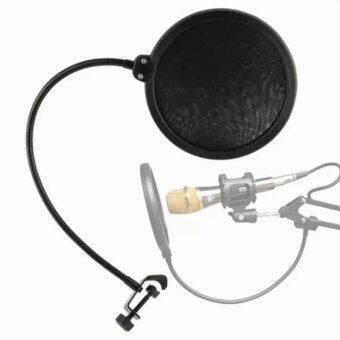iremax สตูดิโอไมโครโฟน Studio Microphones Mic Pop Filter Mask Shield Protection - Black