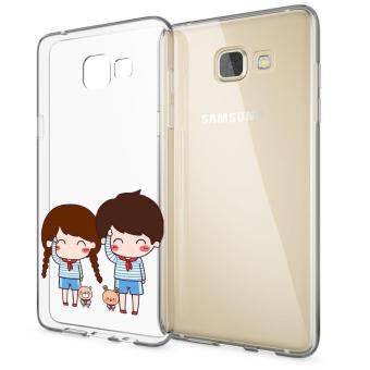 HugCase TPU เคส Samsung Galaxy A7 2016เคสโทรศัพท์พิมพ์ลาย Say Hi เนื้อบาง 0.3 mm