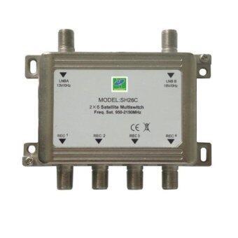 Mastersat Multi Switch 2x4 Full HD สำหรับดูเครื่องรับดาวเทียม C หรือ Ku band 4 จุด รุ่น MS24HD