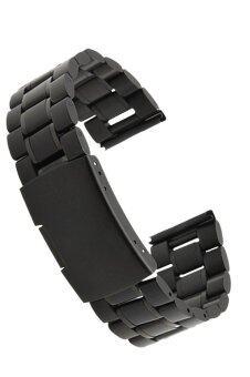 22มม w แทนสเตนเลสหนารัดสายนาฬิกาสร้อยข้อมือสายนาฬิกาหรูสำหรับ Motorola Moto 360 1st เก็นนาฬิกาอัจฉริยะ (สีดำ)