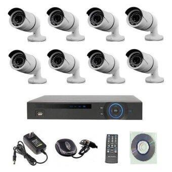 Mastersat ชุดกล้องวงจรปิด CCTV IP Camera 2 MP 8 จุด มีระบบ NVR POE ในตัว ( ไม่ใช้ POE Switch ) 48V. ใช้ได้ไกล 100 เมตร