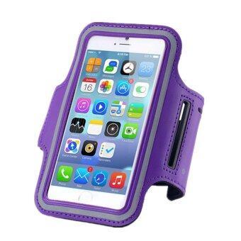 Center สายรัดแขนมือถือSports Armband Case Holder for iPhone 6/6S/6Plus(สีม่วง)