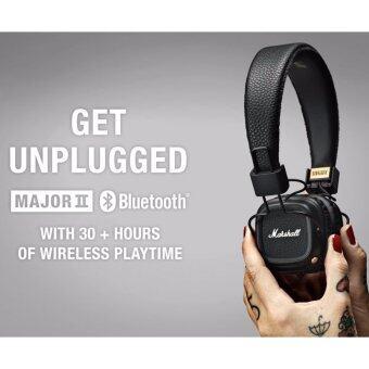 Marshall Headphones Major II Bluetooth Black หูฟังบลูทูธสุดหรู ประกันศูนย์