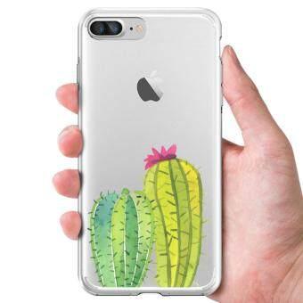 AFTERSHOCK TPU Case iPhone7 Plus (เคสใสพิมพ์ลาย Cactus) / Thin 0.33 mm