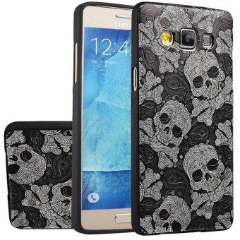 Tpu case RUILEAN นุ่มสำหรับ Samsung Galaxy A5( 2558) กะโหลก 3D จำหลักภาพเรื่องปิดบัง