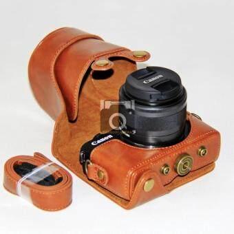 กระเป๋ากล้องกระเป๋าเคสครอบสำหรับ Cannon M10 Full case เคสหนังกล้อง