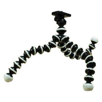 ขาตั้งกล้องแบบปลาหมึก ดัดได้ทุกองศาตามต้องการ ไซส์กลาง (สีขาว/ดำ)