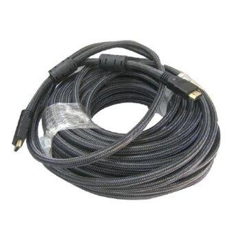 HDMI สายถัก hdmi to hdmi V1.4 FULL HD 3D ยาว20m (สีดำ)