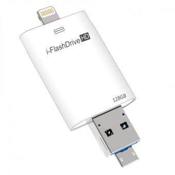 i-FlashDrive HD 128Gb USB3.0 OTG แฟลชไดร์ฟสำรองข้อมูลสำหรับ iPhone,IPad (White)