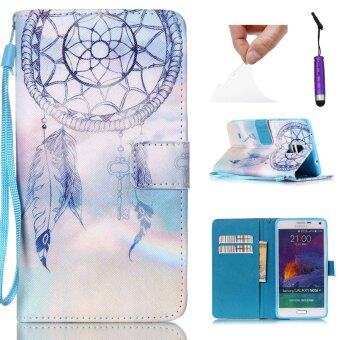 Harga เคส for Samsung Galaxy Note 4 N9100 PU Leather พริกยืน Case Cover กระเป๋าสตางค์ - Dream Catcher