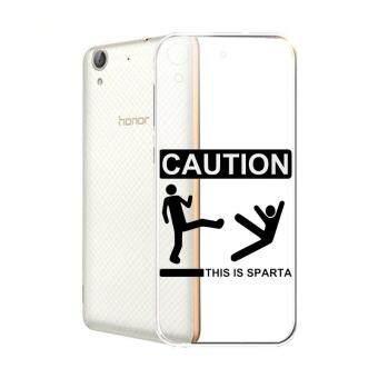 Hug Case TPU เคส Huawei Y6 II เคสโทรศัพท์พิมพ์ลาย Caution เนื้อบาง 0.3 mm