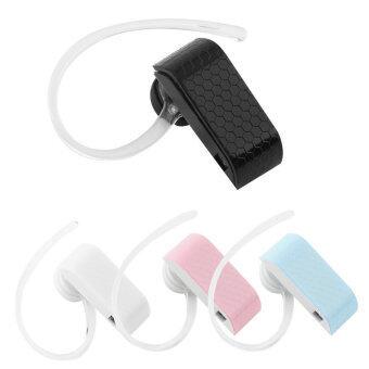 ไร้สายบลูทูธวีโอ 2.1 มือฟรีชุดหูฟังหูฟังเดี่ยวสำหรับสมาร์ทโฟน (สีดำ)