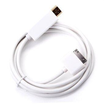 โอ้ 1.8แผ่นตัวเชื่อมต่อกับท่าเรือวัด HDMI เคเบิลสำหรับ iPad 1 2 3 iPhone 4 4S iPod 4