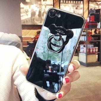 Case Samsung Galaxy J7 Prime เคสกระจกเงา แหวนตั้งได้ ขอบนิ่ม (Case TPU) สีดำ