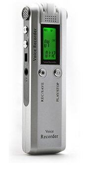 Digital เครื่องบันทึกเสียง ฟังเพลง รุ่น Digital TC-026 2GB - สีเงิน
