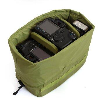 Harga SLR camera Insert Partition Padded Inner Bag Fit 1x DSLR+3x Lens A1