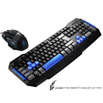 ขายถูก Tsunami Combo Monster Series Gaming Keyboard คีย์บอร์ด+ Mouse เมาส์ 2in1 Kit (Black/Blue) มาใหม่