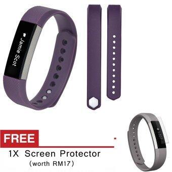 Awinner oem เล็กขนาดสายรัดข้อมือซิลิโคนสายนาฬิกาสำหรับ Fitbit อัลต้า-(สีม่วง) ฟรีกันรอยหน้าจอ (5ชิ้น)Intl